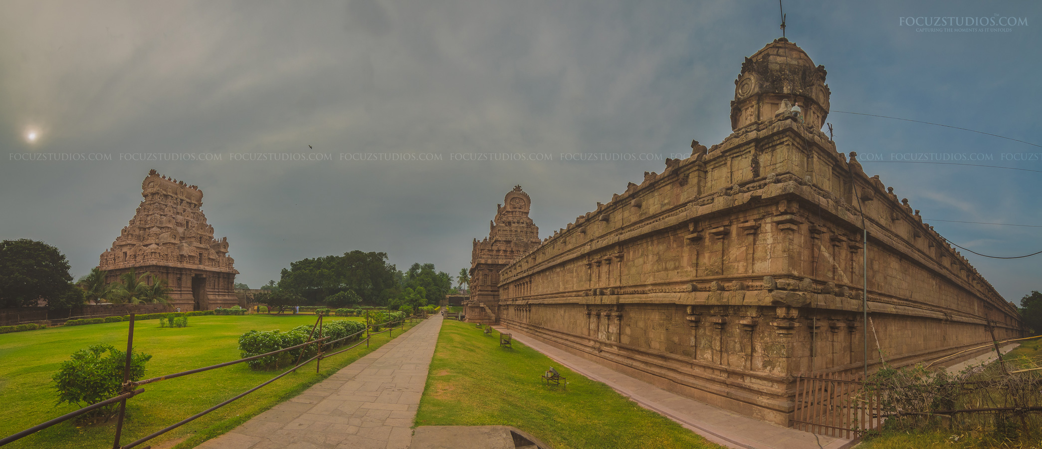 thanjavur temple photo panorama