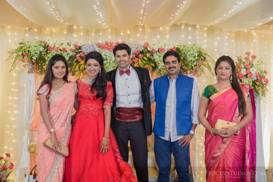 ganesh venkatraman nisha krishnan wedding reception Focuz Studios